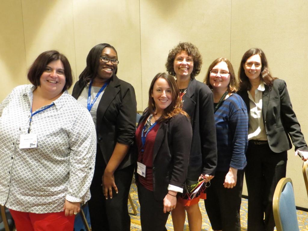 Original steering committee members (l-r): Michelle Eble, Natasha Jones, Kristen Moore, Lisa Meloncon, Liza Potts, Michele Simmons