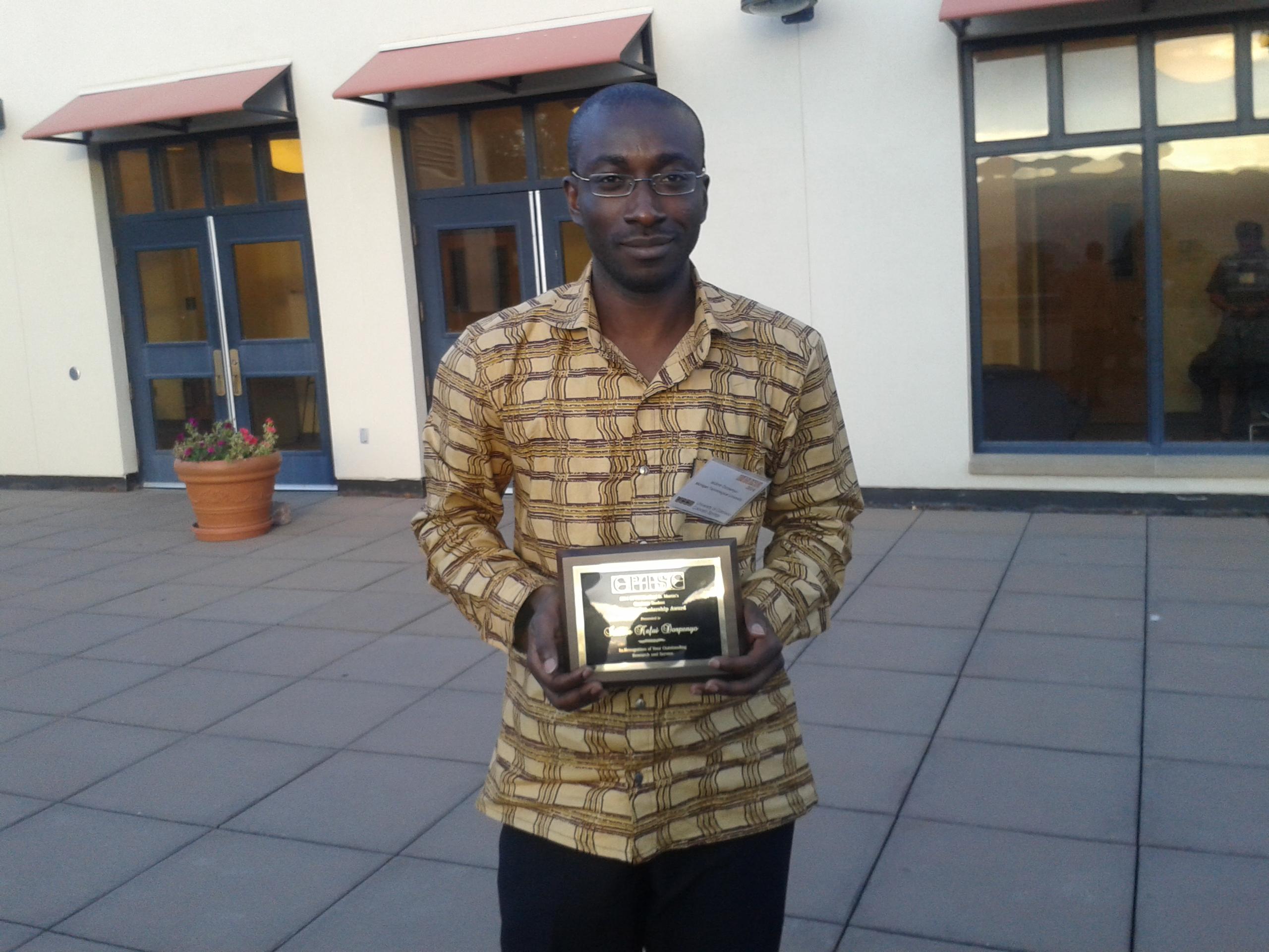 2014 Diversity Scholarship winner, Isidore Dorpenyo
